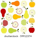 fruits background | Shutterstock .eps vector #59912374