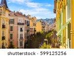 street in  nice  cote d'azur ... | Shutterstock . vector #599125256