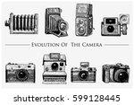 evolution of the photo  video ... | Shutterstock .eps vector #599128445