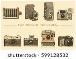 evolution of the photo  video ... | Shutterstock .eps vector #599128532