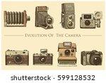 evolution of the photo  video ... | Shutterstock .eps vector #599128532