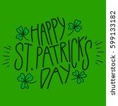 happy saint patrick's day  | Shutterstock .eps vector #599133182