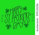 happy saint patrick's day  | Shutterstock .eps vector #599133206