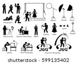 indoor photographer photography ... | Shutterstock .eps vector #599135402