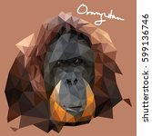 a vector illustration of orang... | Shutterstock .eps vector #599136746
