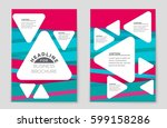 abstract vector layout... | Shutterstock .eps vector #599158286