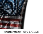usa flag background with... | Shutterstock . vector #599173268