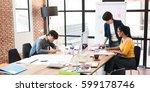 group of creative worker... | Shutterstock . vector #599178746