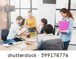 group of five multi generation... | Shutterstock . vector #599178776