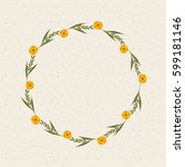 decorative wreath of flowers... | Shutterstock .eps vector #599181146