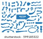 set of cartoon arrows  blue... | Shutterstock .eps vector #599185322