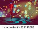 bullseye is a target of... | Shutterstock . vector #599193302