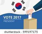 south korea democracy political ... | Shutterstock .eps vector #599197175