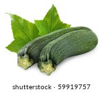 Isolated Zucchini. Two...