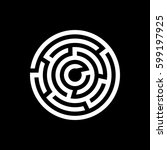labyrinth icon. maze and... | Shutterstock .eps vector #599197925
