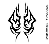 tattoo tribal vector designs... | Shutterstock .eps vector #599203028