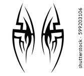 tattoo tribal vector designs... | Shutterstock .eps vector #599203106