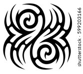 tribal designs. tribal tattoos. ... | Shutterstock .eps vector #599203166