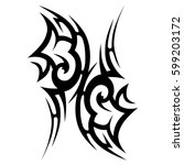 tattoo tribal vector designs... | Shutterstock .eps vector #599203172