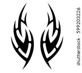 vector tribal tattoo designs.... | Shutterstock .eps vector #599203226