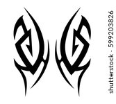tattoo tribal vector designs... | Shutterstock .eps vector #599203826