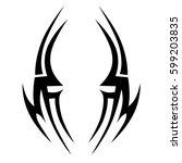 tattoo tribal vector designs... | Shutterstock .eps vector #599203835
