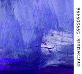 Brushstrokes Of Blue Paint