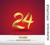 celebrating of 24 years... | Shutterstock .eps vector #599219018