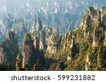 mountain landscape of... | Shutterstock . vector #599231882