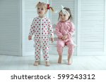 children in fashionable pajamas | Shutterstock . vector #599243312