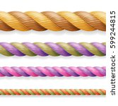 realistic rope vector.... | Shutterstock .eps vector #599244815