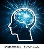 brain power | Shutterstock .eps vector #599248622