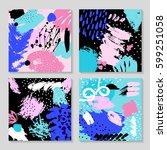 set of creative card template... | Shutterstock .eps vector #599251058