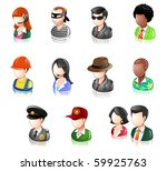 various profession people... | Shutterstock .eps vector #59925763