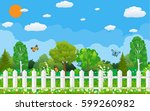 summer and spring nature... | Shutterstock . vector #599260982