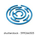 3d Illustration Of Blue Round...