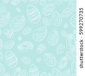 easter eggs blue pattern.... | Shutterstock .eps vector #599270735