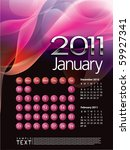2011 calendar january | Shutterstock .eps vector #59927341