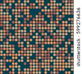 geometric circle seamless...   Shutterstock .eps vector #599276636