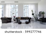 large classic chesterfield... | Shutterstock . vector #599277746
