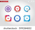 colored icon or button of down... | Shutterstock .eps vector #599284832