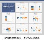 flat vector set infographics... | Shutterstock .eps vector #599286056