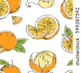 seamless vector pattern with... | Shutterstock .eps vector #599287592