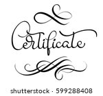 certificate vector text on... | Shutterstock .eps vector #599288408