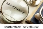 page with title epinephrine and ... | Shutterstock . vector #599288852