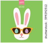 illustration vector of bunny... | Shutterstock .eps vector #599292512
