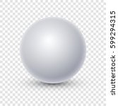 white sphere isolated on... | Shutterstock .eps vector #599294315