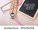 pink stethoscope and a... | Shutterstock . vector #599296598