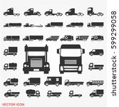 truck icons | Shutterstock .eps vector #599299058