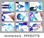 business brochure design ... | Shutterstock .eps vector #599302778